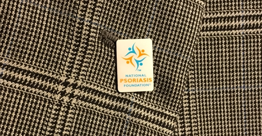 A lapel pin from the NPF that I received from the meeting with their staff.